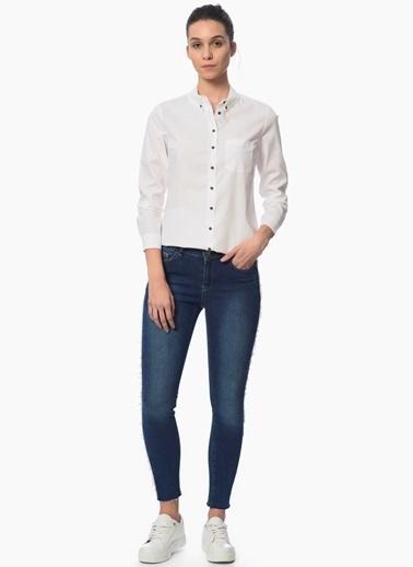 Network Slim Fit Gömlek Beyaz